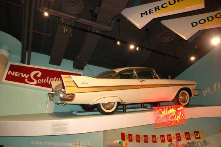 The Detroit Auto Show Exhibit Inside the Michigan History Museum