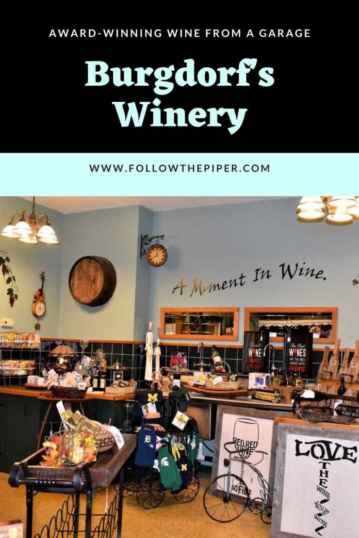 Burgdorf's Winery Pinterest Graphic