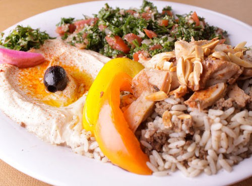Chicken Shawarma Plate at Zaytoon