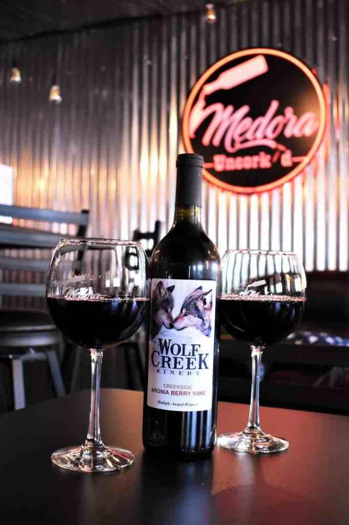 Aronia Berry wine from Wolf Creek Winery in Cole Harbor, North Dakota