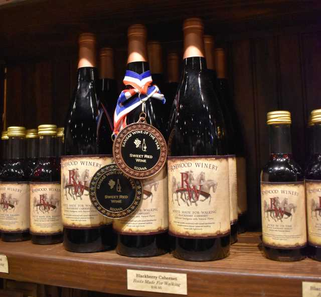 Wine Selection at Rosewood Winery
