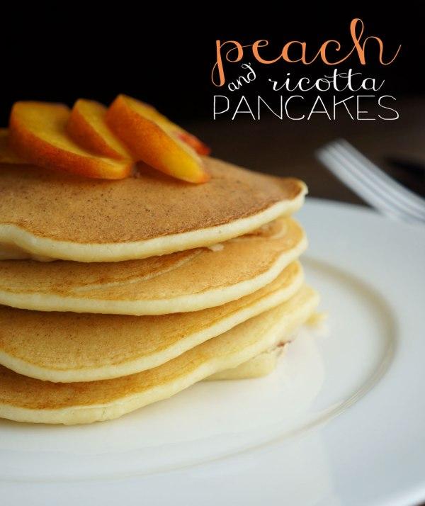 Peach-Ricotta-Pancakes