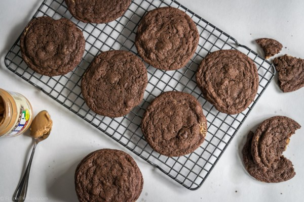 Chocolate Peanut Butter Cookies-5
