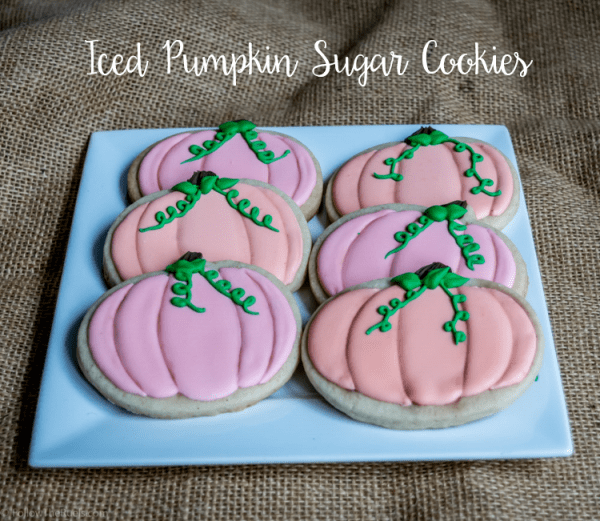 Iced Pumpkin Sugar Cookie