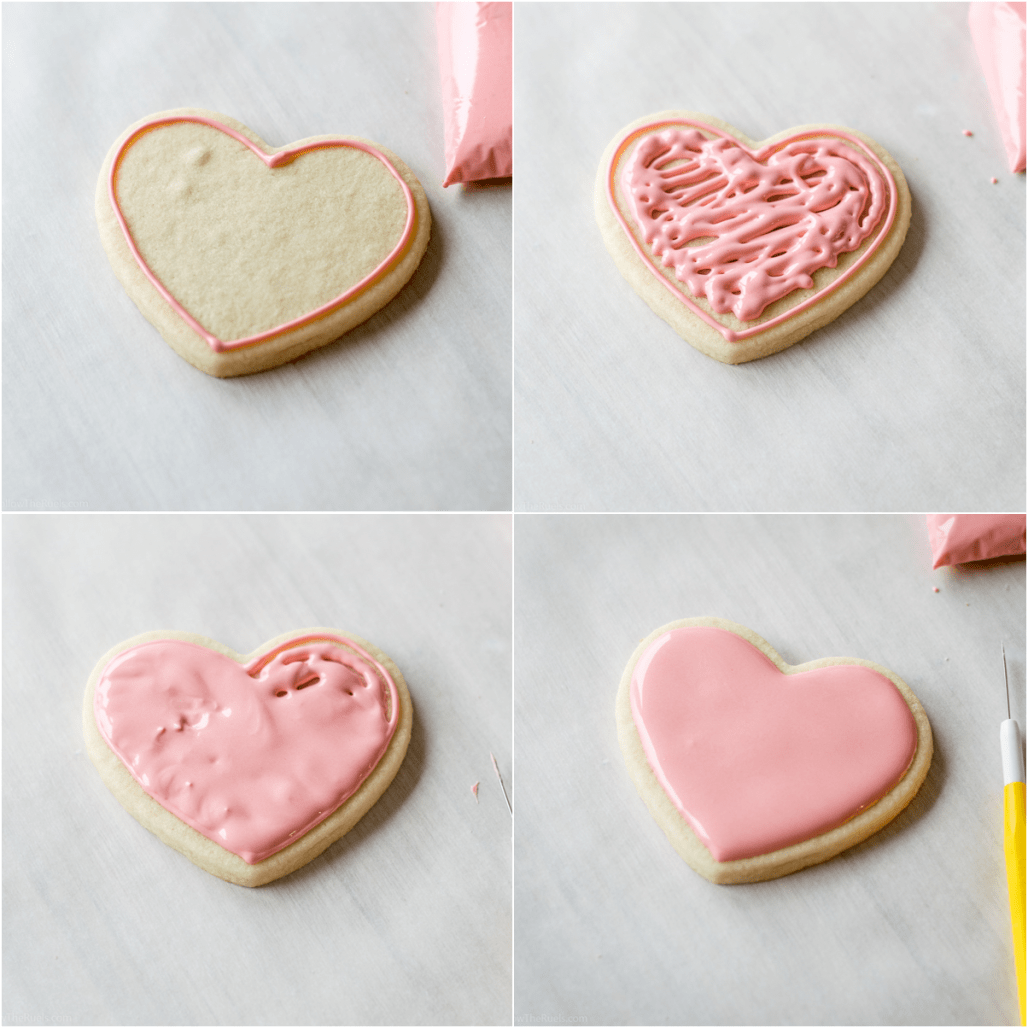 Heart Shaped Sugar Cookies With Royal Icing