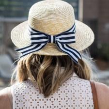 DIY Striped Bow Hat