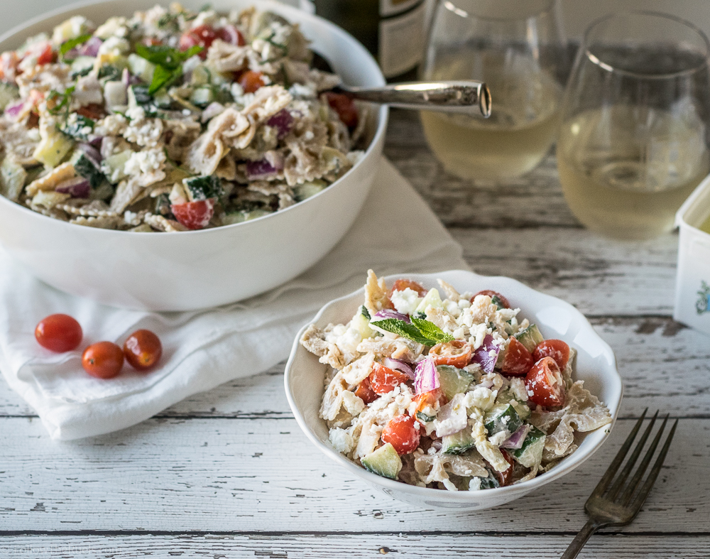 Greek-inspired Tzatziki Pasta Salad