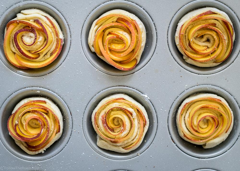 Easy peach tartlets