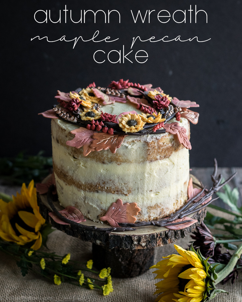 Autumn Wreath Maple Pecan Cake