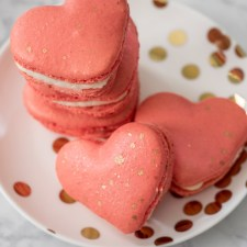 Heart Shaped Macarons (Italian Meringue Method)