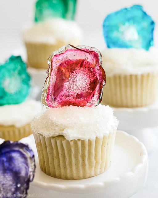 Agate Cupcake Toppers