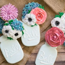 Mason Jar Bouquet Cookies
