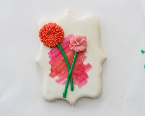 Fondant Flower Stem Cookies-5