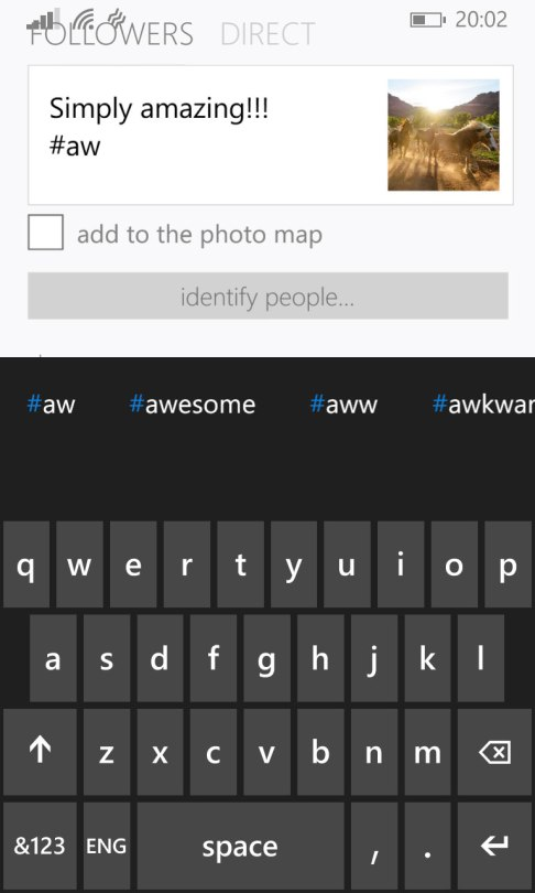 6tag for Instagram suggests commonly used hashtags while you are typing