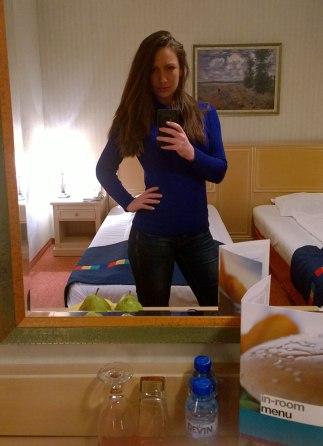 Nina, selfie in Park Inn by Radisson