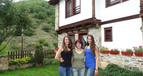 Nina, Ellie and Svetlana at the Complex Kosovo Houses