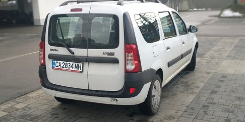 Dacia Logan, back, rent a car Bulgaria