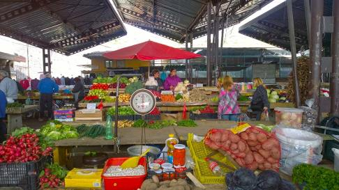 Fruits and vegetables market in Nis, Serbia