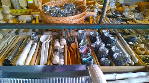 Old school culinary tools on the market in Nis, Serbia