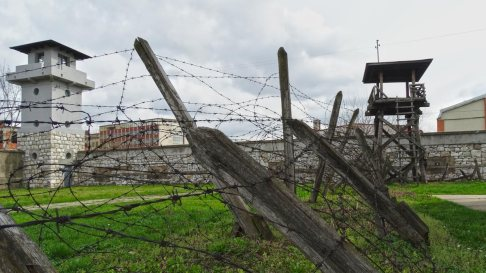 Spike wire fence in Nis concentration camp