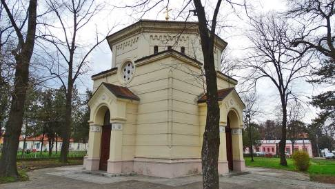 The chapel protecting the Skull Tower in Nis, Serbia