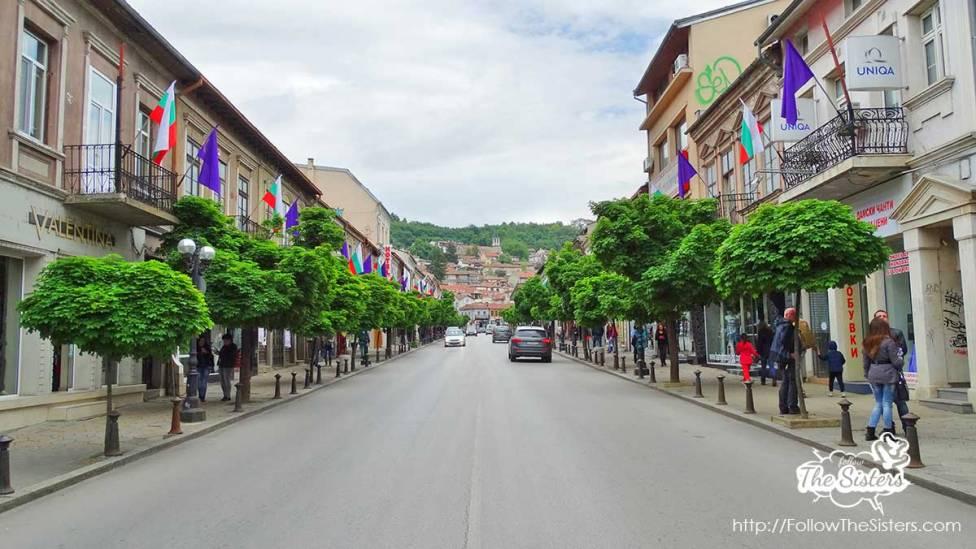 The main street of Veliko Tarnovo