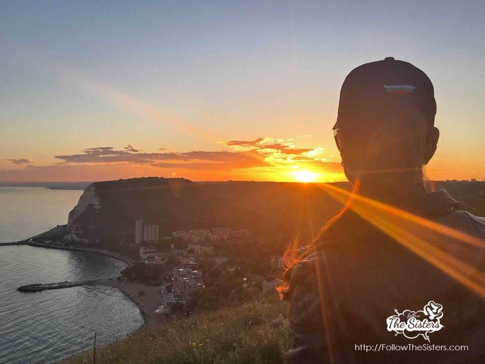 The sunset at Cape Chirakman, Kavarna