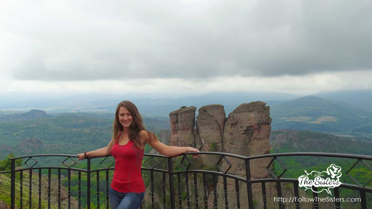 Nina posing at Kaleto Fortress, Belogradchik