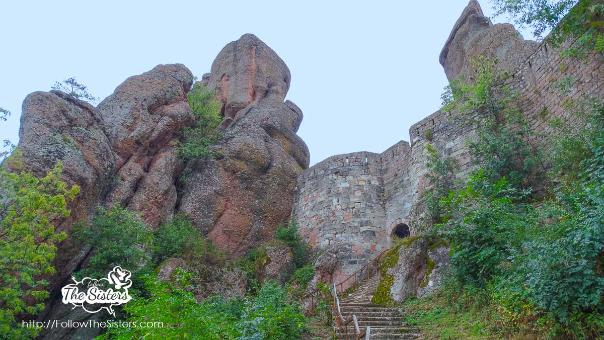 The stars leading to the Kaleto Fortress in Belogradchik