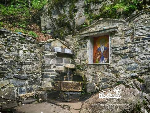 The holy water spring next to Ivan Rilski cave