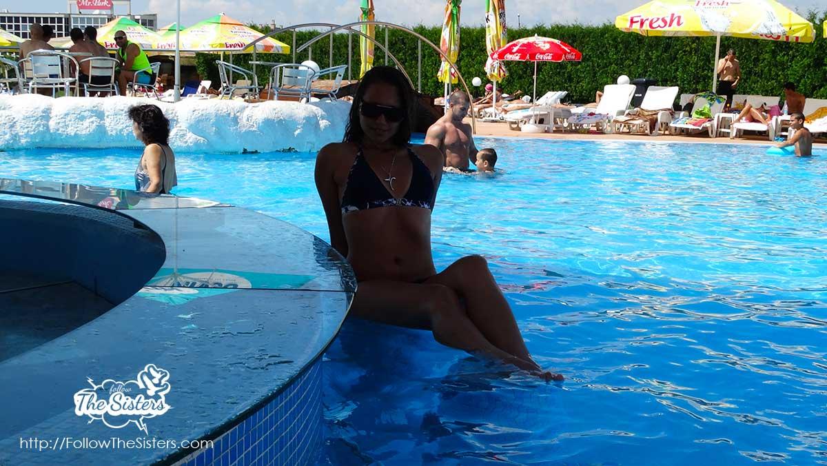 The in-water bar at Varadero swimming pool, Sofia