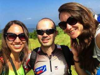 Nina Ellie and Dimi on the way to Cherni Vrah