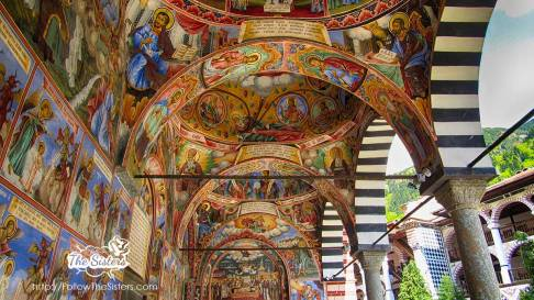 Wall murals in Rila monastery