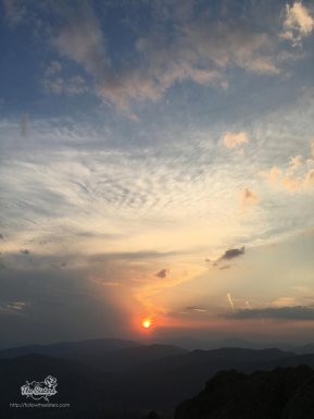 The sunset above Sliven