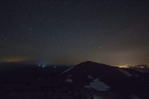 Buzludza peak at night