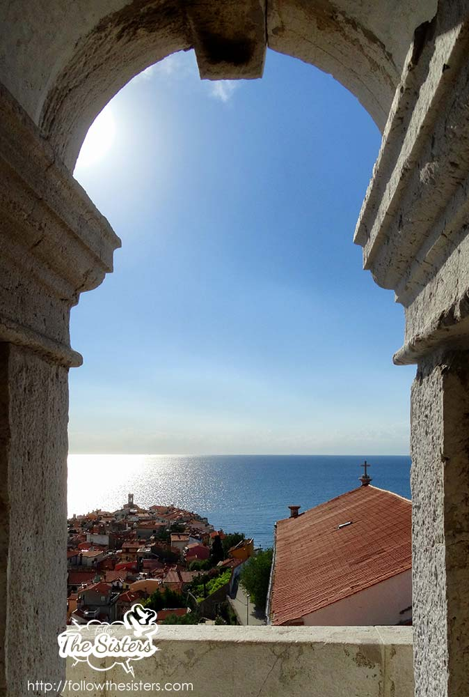 Piran clock tower window