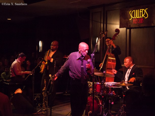 The Fountain of Youth band. Roy Haynes on drums, Jaleel Shaw on saxophones, Martin Berjerano on piano, and David Wong on bass. Craig Haynes, sat in.