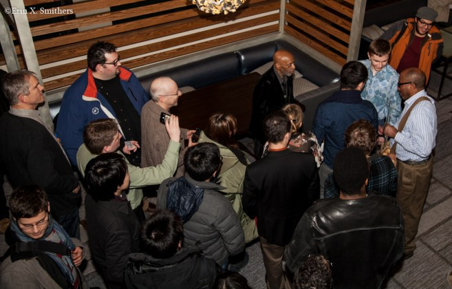 Roy Haynes with his fans after the show at Scullers.