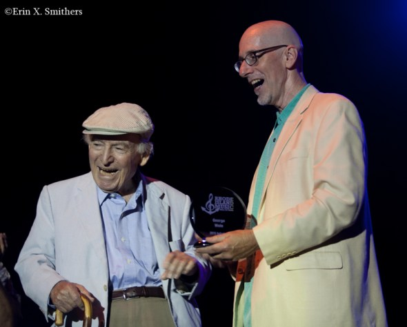 George Wein with Jeff Keithline, from Rhode Island Music Hall of Fame