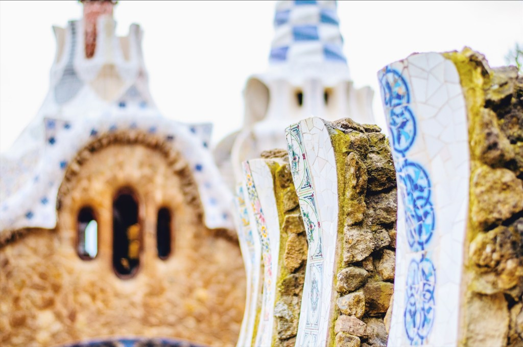 barcelona in winter - park guell details