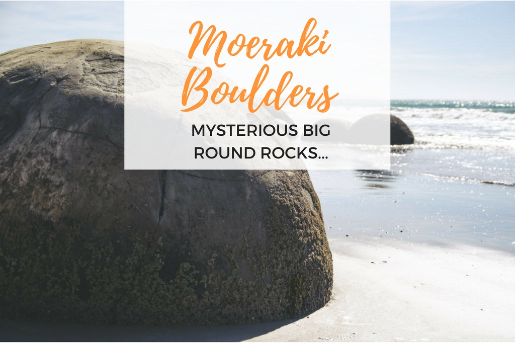moeraki boulders new zealand - big round rocks in new zealand