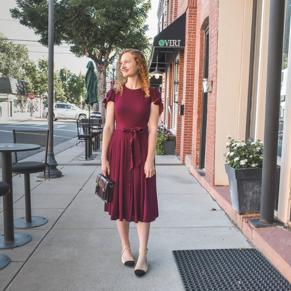 red Gal Meets Glam dress