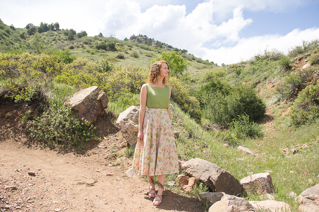 summer vintage outfit