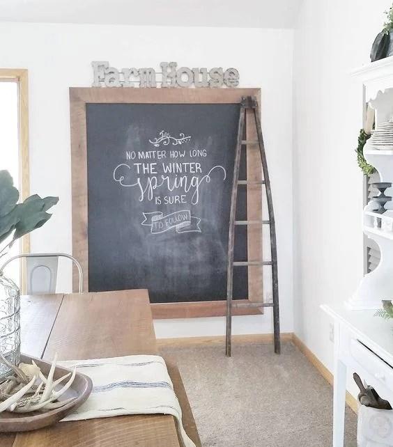 Huge farmhouse style chalkboard modern farmhouse style