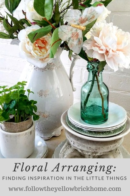 How to Arrange Faux Flowers in Home Decor | Floral Arrangements Beautiful ideas for floral arranging using small treasures for inspiration.