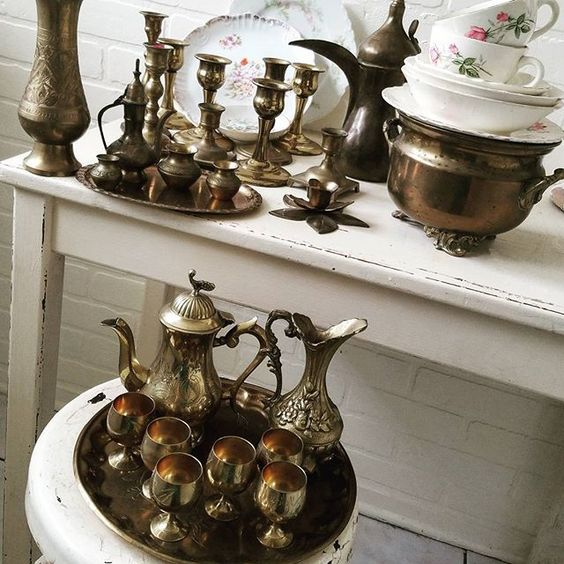 Gorgeous collection of vintage brass
