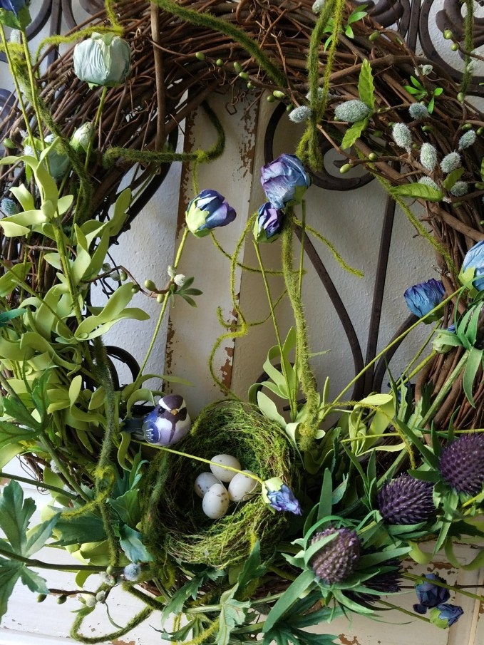 Gorgeous spring wreath grapevine wreath how to make a spring wreath with thistle and moss