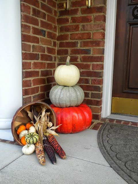 Beautiful fall porch decor