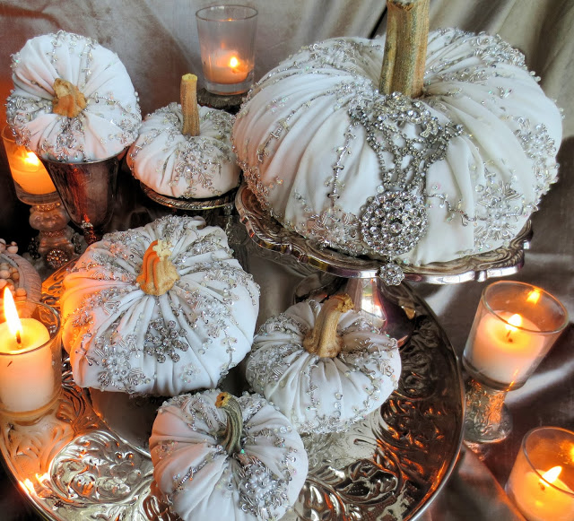How to make ornate pumpkins with bling