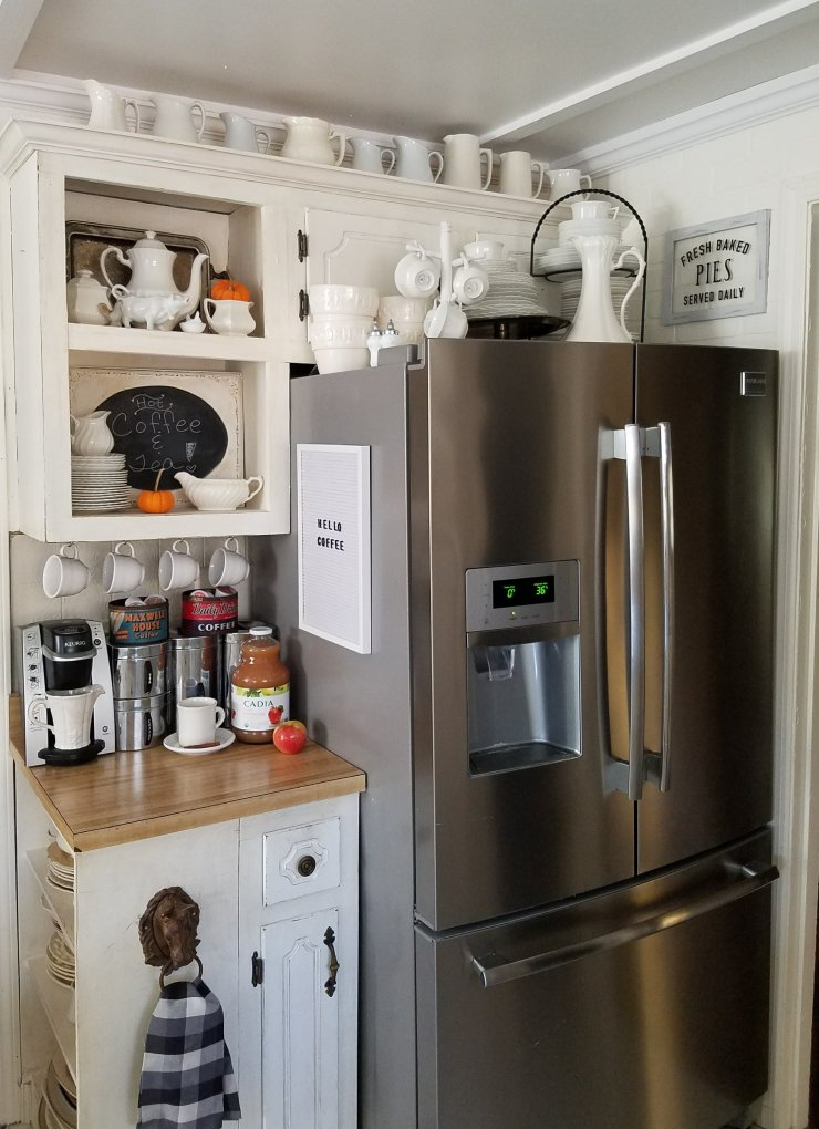 Adorable Cottage Kitchen Fall Tour Coffee Station